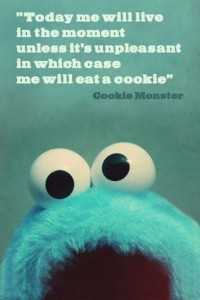 happy cookie monster
